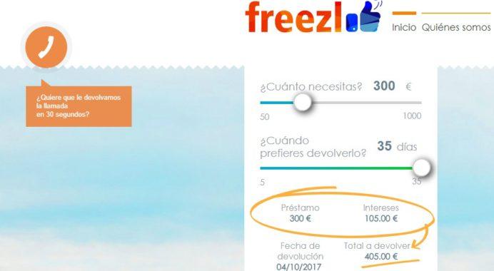 Paso a paso cómo solicitar un préstamo en Freezl.es